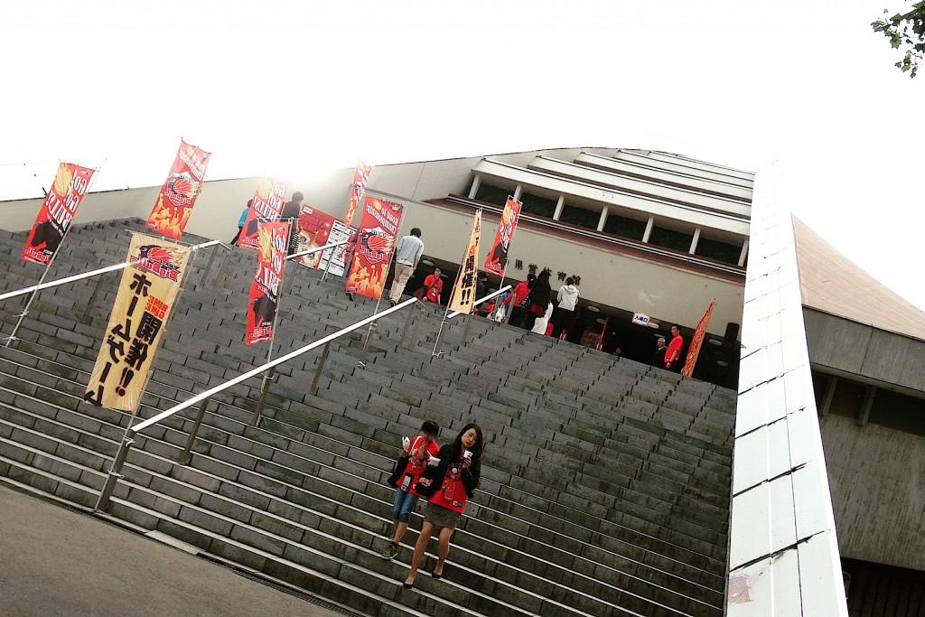 決戦の会場となった、岩手県営体育館。